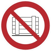 Schild Abstellen oder Lagern verboten P023