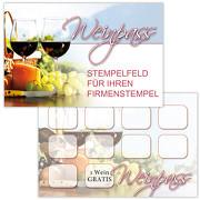 Wein Pass / Bonuskarte Wein / Treuekarte, Gutschein mit Stempelfeld