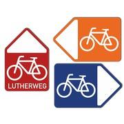 Wegweiser Fahrrad Schild Radweg Alu auch mit Wunschtext
