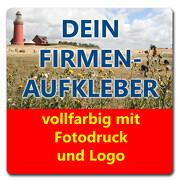 Aufkleber ECKIG Firmenaufkleber von Ihrer Datei mit Logo Firmenlogo