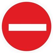 Aufkleber oder Schild Einfahrt verboten Verbot der Einfahrt
