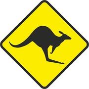 Aufkleber oder Schild Känguru Kangaroo wetterfest verschiedene Größen