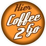 Aufkleber oder Schild Coffee to go Schild Alu-Verbund Kaffee