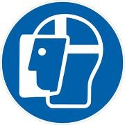 Schild Gesichtsschutz benutzen M013
