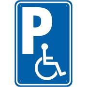 Schild Behindertenparkplatz Parkplatz Rollstuhl 3 mm Alu Verbund