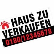 Banner Plane Haus Grundstück Büro Laden zu verkaufen vermieten mit Wunschdruck 2x1m