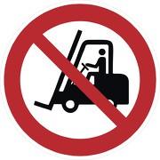 Schild Für Flurförderzeuge verboten P006