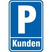 Schild Kundenparkplatz Parkplatz Kunden 3mm Aluminium-Verbund 3 Größen