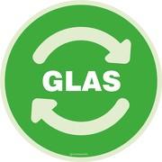 Wertstoffkennzeichnung Glas Aufkleber