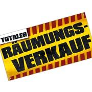 Banner Räumungsverkauf Werbebanner Aktionsbanner Plane 2x1m oder 4x1m