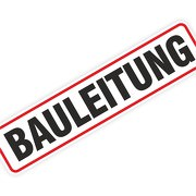 """Magnetschild """"Bauleitung / Bauleiter"""" 30 x 7 cm 1mm stark"""