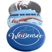 Buttons mit Nadel bedrucken 56 mm rund Button Druck Logo