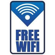 Schild Free Wifi freies offenes WLAN Internet Hotspot 3mm Alu Verbund