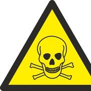 Aufkleber Warnung vor giftigen Stoffen W016
