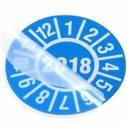 Laminat für Prüfetiketten 30 mm Prüfplaketten, durchsichtig 31,5 mm Durchmesser