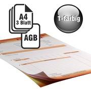 Durchschreibesätze 1/1-farbig A4 2-fach durchschreibend mit Rückseitendruck