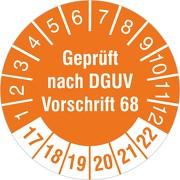 """Prüfplakette """"Geprüft nach DGUV Vorschrift 68 / BGV D27"""" 2017-2022"""