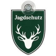 Schild Autoschild Jagdschutz mit Saugnapf PVC Material