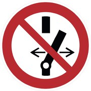 Schild Schalten verboten P031