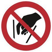 Aufkleber Hineinfassen verboten P015