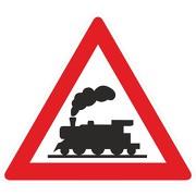 Verkehrsschild Dampflok Eisenbahnschild Schild Lok Bahnübergang Bahn