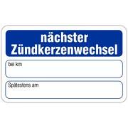 """""""Nächster Zündkerzenwechsel"""" Wartungsaufkleber allgemein 58 x 36 mm"""