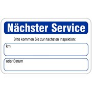 """""""Nächster Service"""" Wartungsaufkleber allgemein 58 x 36 mm"""