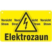 Vorsicht Elektrozaun Strom Weidezaunschild Schild 20x12 cm