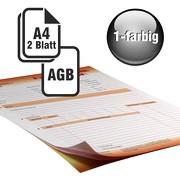 Durchschreibesätze 1/1-farbig A4 1-fach durchschreibend mit Rückseitendruck