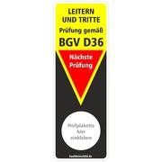 """Prüfaufkleber Prüfetikett Prüfung BGI BGV Leitern und Tritte """"BGV D36"""""""