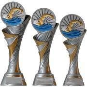 Pokal FG Trophäe Schwimmen Schwimmsport mit Emblem 70 mm 3 Größen