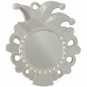 Medaille Franziska Karneval Fasching 57mm hoch Orden Faschingsorden Metall silber