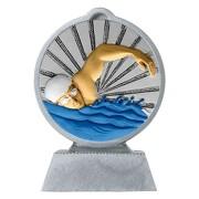 Pokal mit 3D Motiv Schwimmen Schwimmsport Serie Ronny 10,5 cm hoch