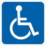 Behindertentransport Rollstuhl Rollstuhlfahrer 30x30 40x40 cm als Aufkleber