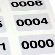 Fortlaufend nummerierte Zahlen Aufkleber Etiketten Folie selbstklebend