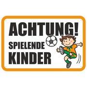 """Hinweisschild """"Achtung spielende Kinder 1""""  3mm Aluminium-Verbundmaterial"""