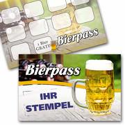 Bier Pass Bonuskarte Bier Treuekarte mit Stempelfeld