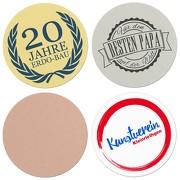 Embleme individuell bedruckt Fotodruck 50 mm mit Logo Gravurplatte Pokale