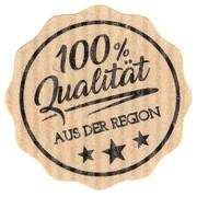 Etiketten Aufkleber Qualität aus der Region braun Natural Bois 35 mm