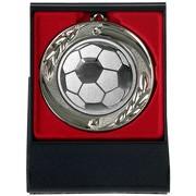 Fußball Medaille mit Etui zum Aufstellen gold silber bronze 70mm Metall