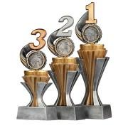Pokal Trophäe Zahl Platz 1 2 3 Serie SALAKA aus Resin PVC 3 Größen