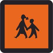 Schulbusschild als Magnetschild / Magnettafel