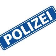 """Magnetschild """"Polizei"""" 30 x 7 cm 1mm stark"""