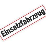 """Magnetschild """"Einsatzfahrzeug"""" 30 x 7 cm 1mm stark"""