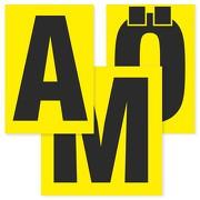 Buchstaben schwarz auf gelb 80 mm hoch wetterfest als Aufkleber Klebebuchstaben