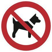 Aufkleber Mitführen von Hunden verboten P021