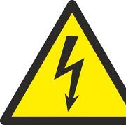 Schild Warnung vor elektrischer Spannung W012