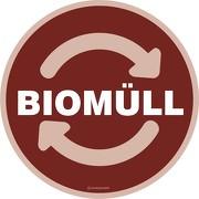 Wertstoffkennzeichnung Biomüll Aufkleber