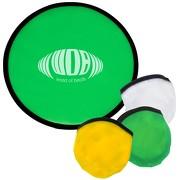 Frisbee Risa faltbar mit Hülle aus Polyester mit Druck Werbedruck