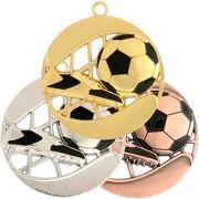 Fußball Medaille BENTE XXL 70 mm schwer gold silber bronze